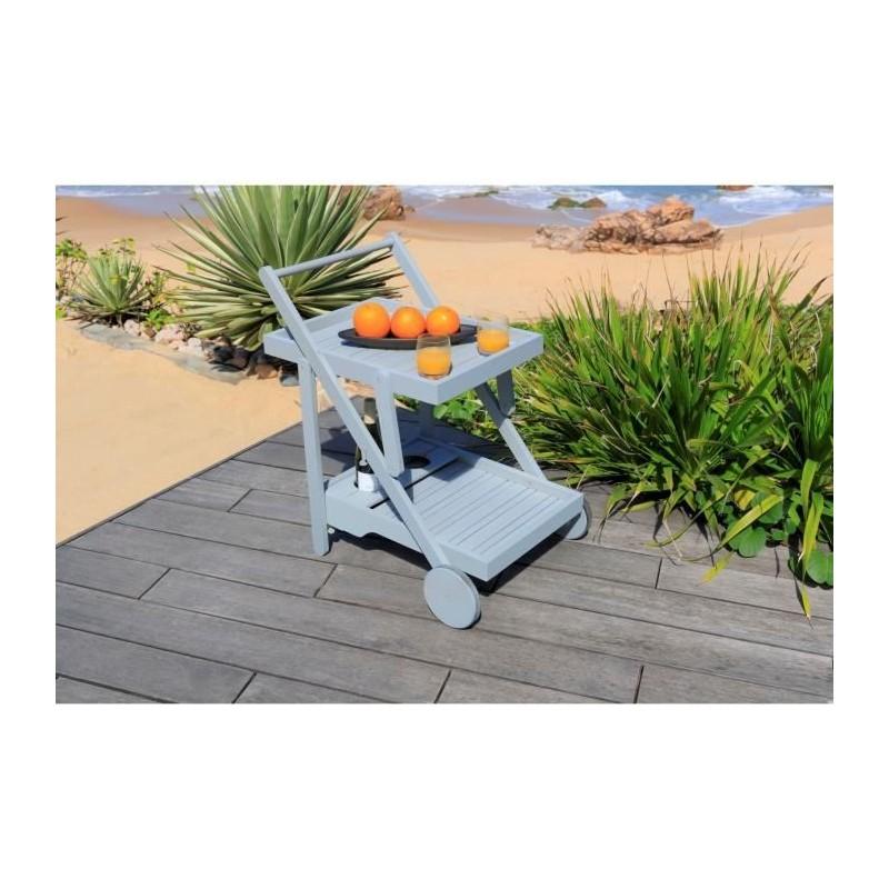 desserte de jardin pliante en bois acacia fsc 67 5x52x75 cm. Black Bedroom Furniture Sets. Home Design Ideas